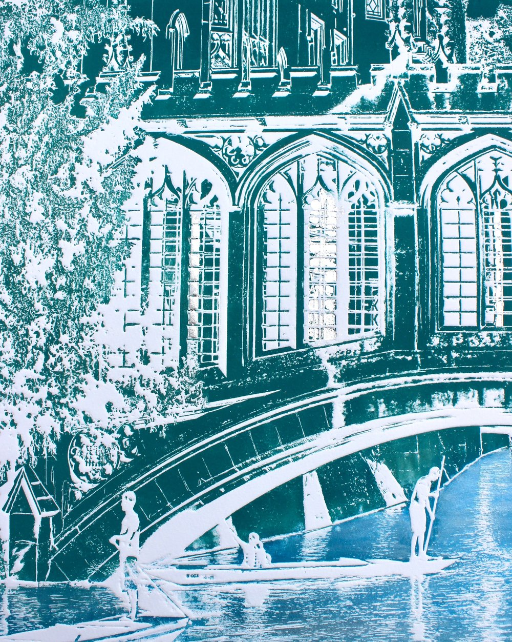 Sighs of Cambridge ed19   solar plate etching   57 x 67 cm  £295 framed