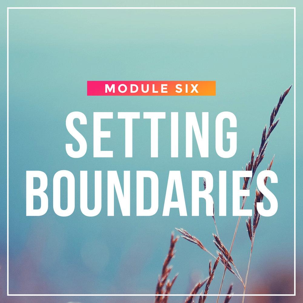 Setting Boundaries