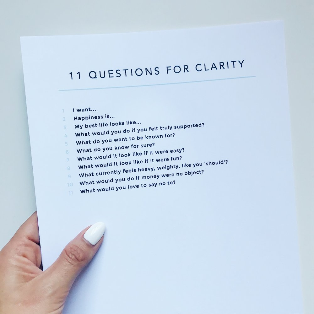 11 Questions for Clarity