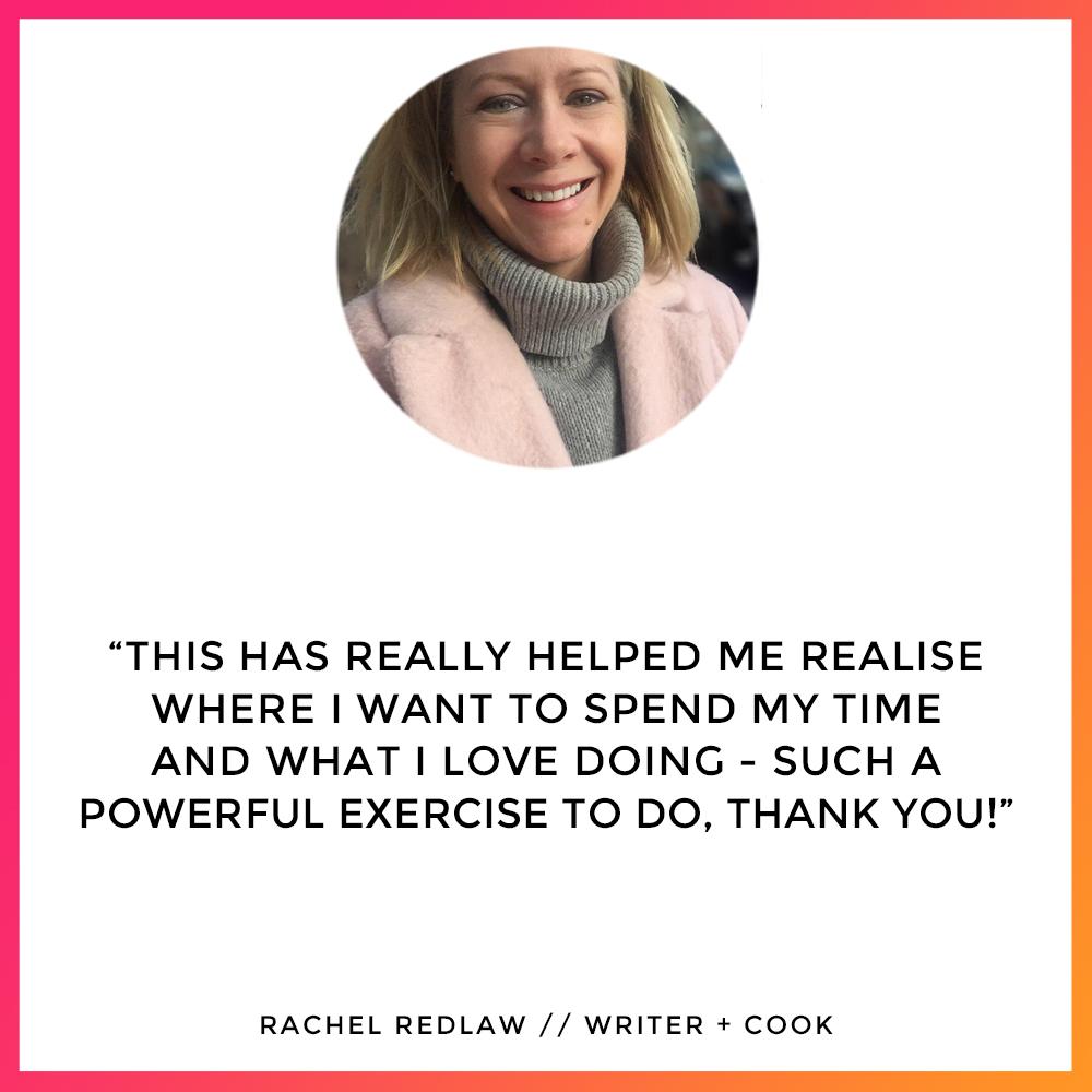 Rachel Redlaw - Workshop Testimonial