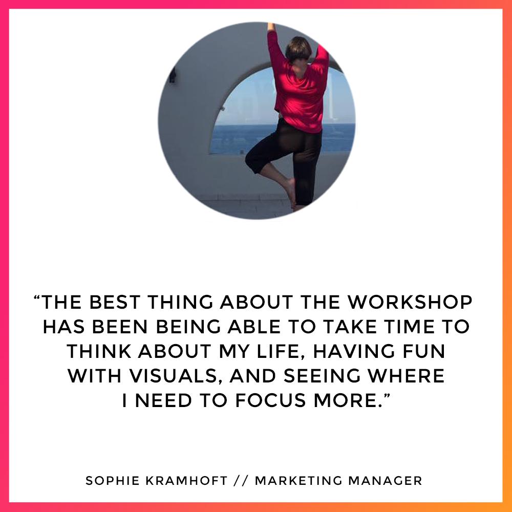 Sophie Kramhoft - Workshop Testimonial