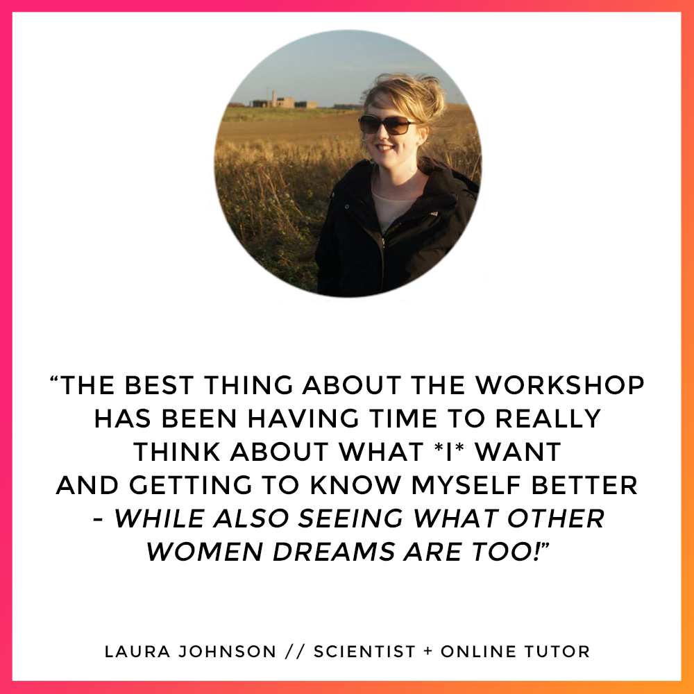 Laura Johnson - Workshop Testimonial