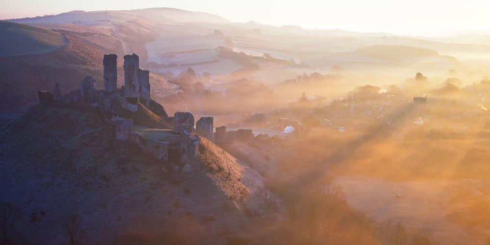 Corfe Castle Fog