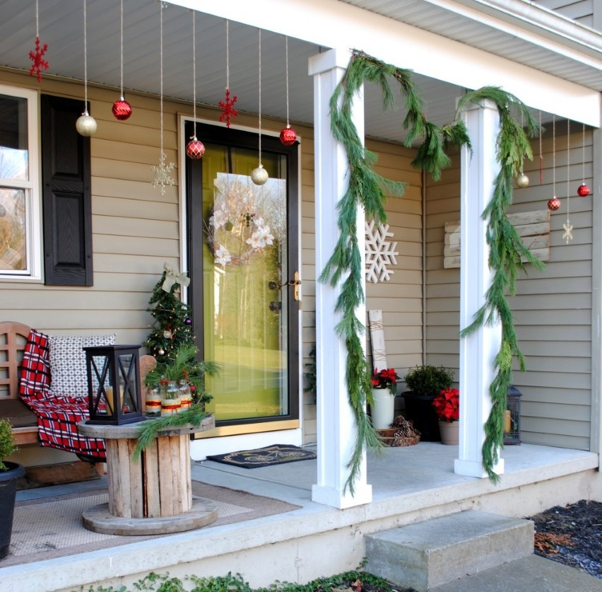 captivating-wood-entry-door-combined-with-clear-glass-idea-feat-cute-christmas-porch-decorating-with-red-and-gold-hanging-balls.jpg
