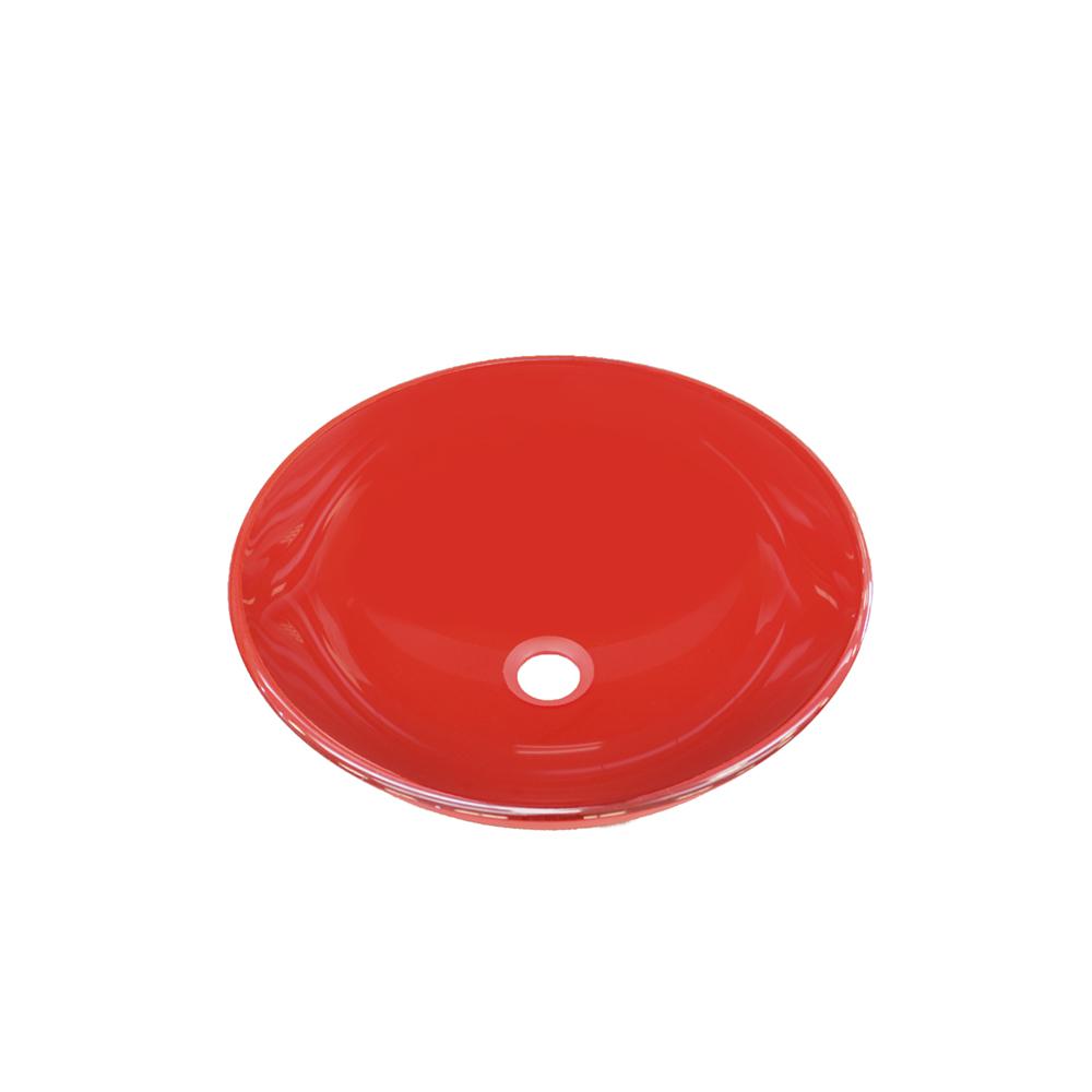 Lavamanos vessel cristal rojo ardisa materiales para for Lavamanos cristal