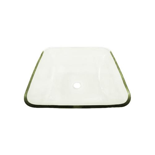 Lavamanos vessel cristal rectangular ardisa materiales for Porcelana sanitaria