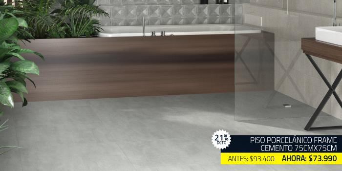 piso porcelanico cemento