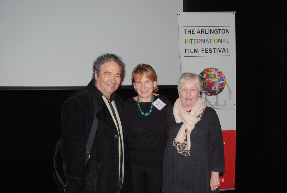 Levon Parian, writer; Roberta Miller, Executive director of the Mosesian Center for the Arts and April Ranck, Executive Director of AIFF