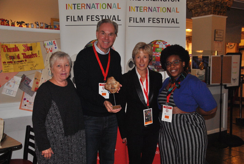 April Ranck, Executive Director of AIFF, Mark Hayes & Gabi Hayes, filmmakers and Theresa Okokon, Master of Ceremony 2018