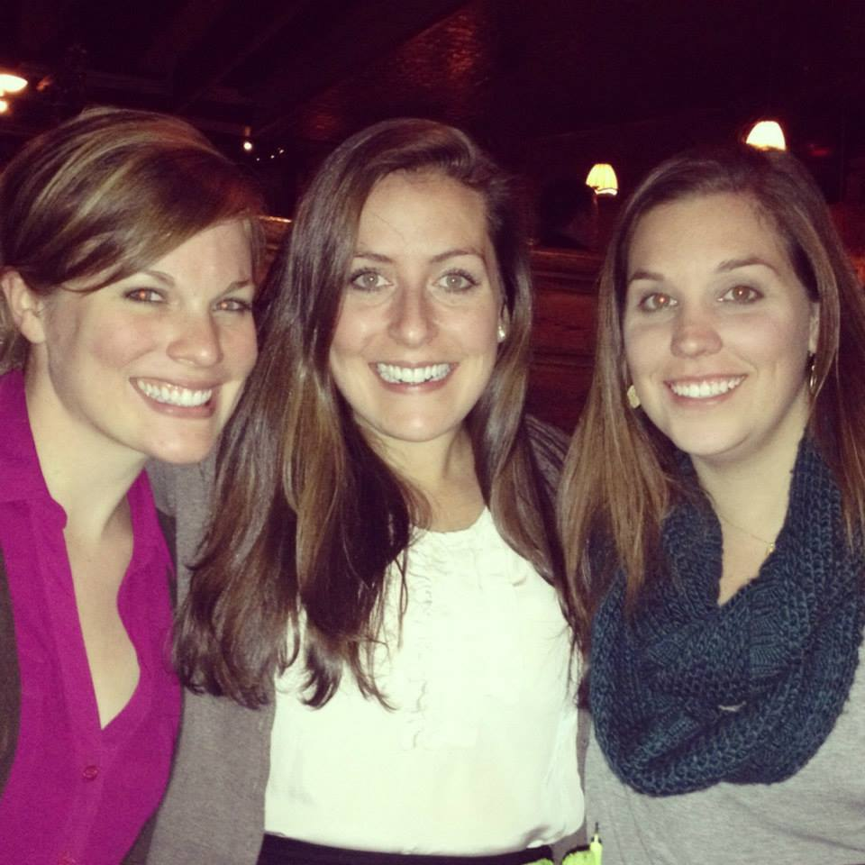 Left to right: Christa, former NVRDC case manager, Kari, and Director of Advocacy & Case Management, Lindsey, in 2013.