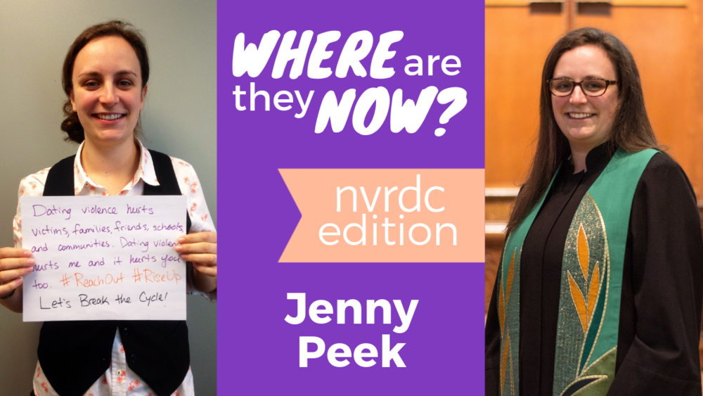 Left: Jenny at NVRDC in February 2014; Right: Jenny at Battell Chapel in October 2017.
