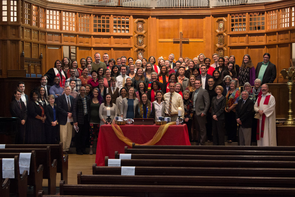 October 2017: Jenny's ordination day in Battell Chapel where the University Church in Yale meets.