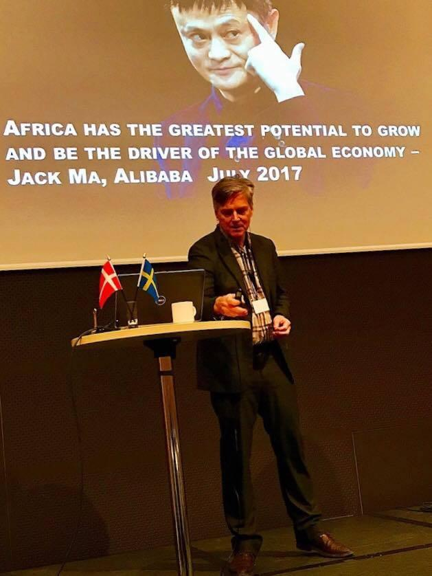 Speaking at the  #africainnovationnetwork   #kickoff  seminar in Stockholm about digitizing the  #informaleconomy  in Africa.  #redflash   #Informalsector   #EmergingAfrica