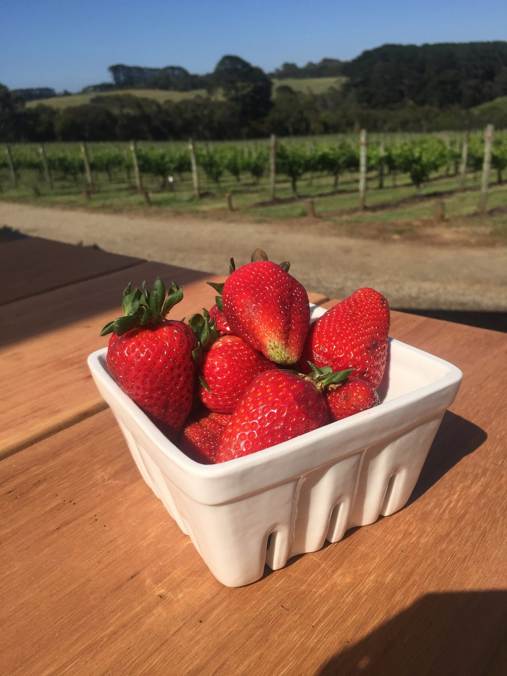 mornington peninsula strawberries part of all our exclusive wine tours
