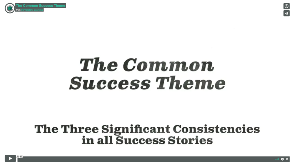 The Common Success Theme Video