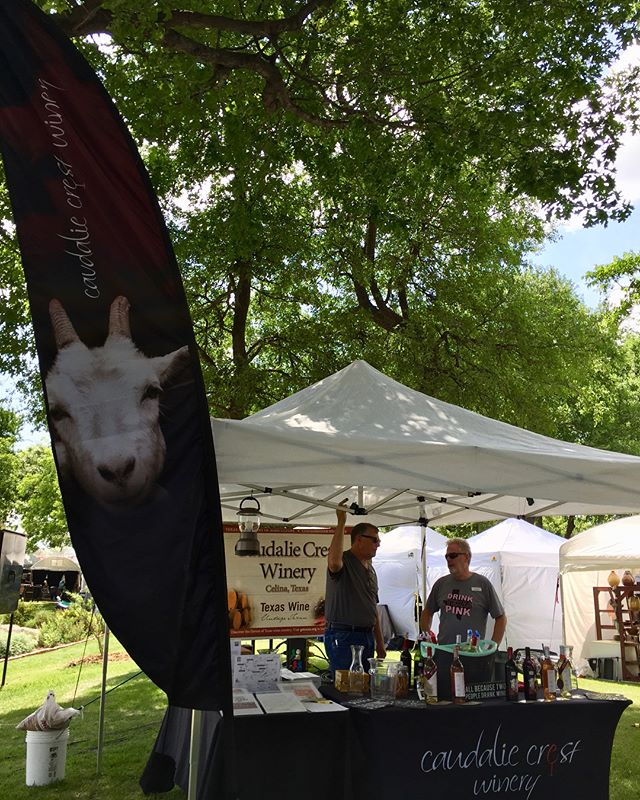 Getting ready for another beautiful day for wine tasting!🍷Join us at Arlington Art On The Greene! #artonthegreene #texas #texaswine #texaswinery #springtimeintexasyall