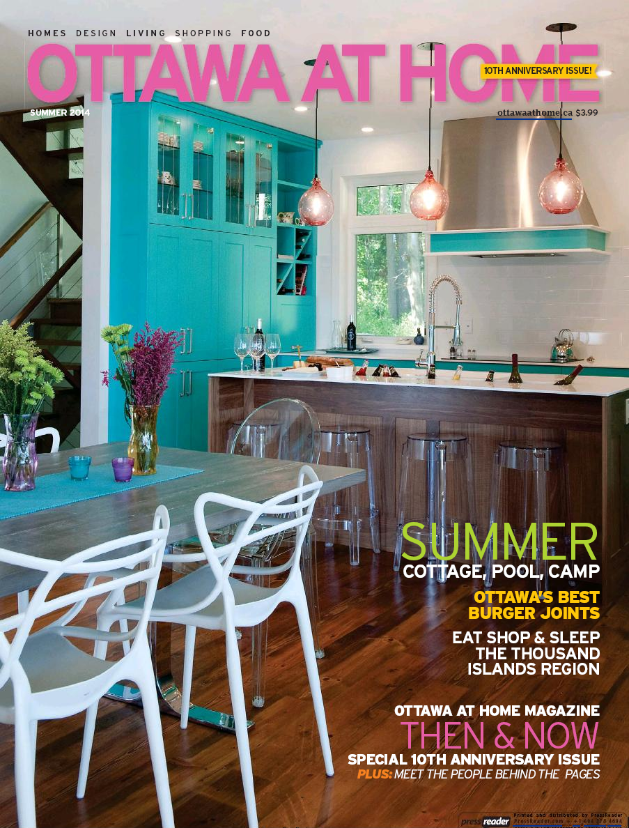 """Easy Living Cottage Style"" Pages 16–17 Ottawa at Home Magazine, June 2014"