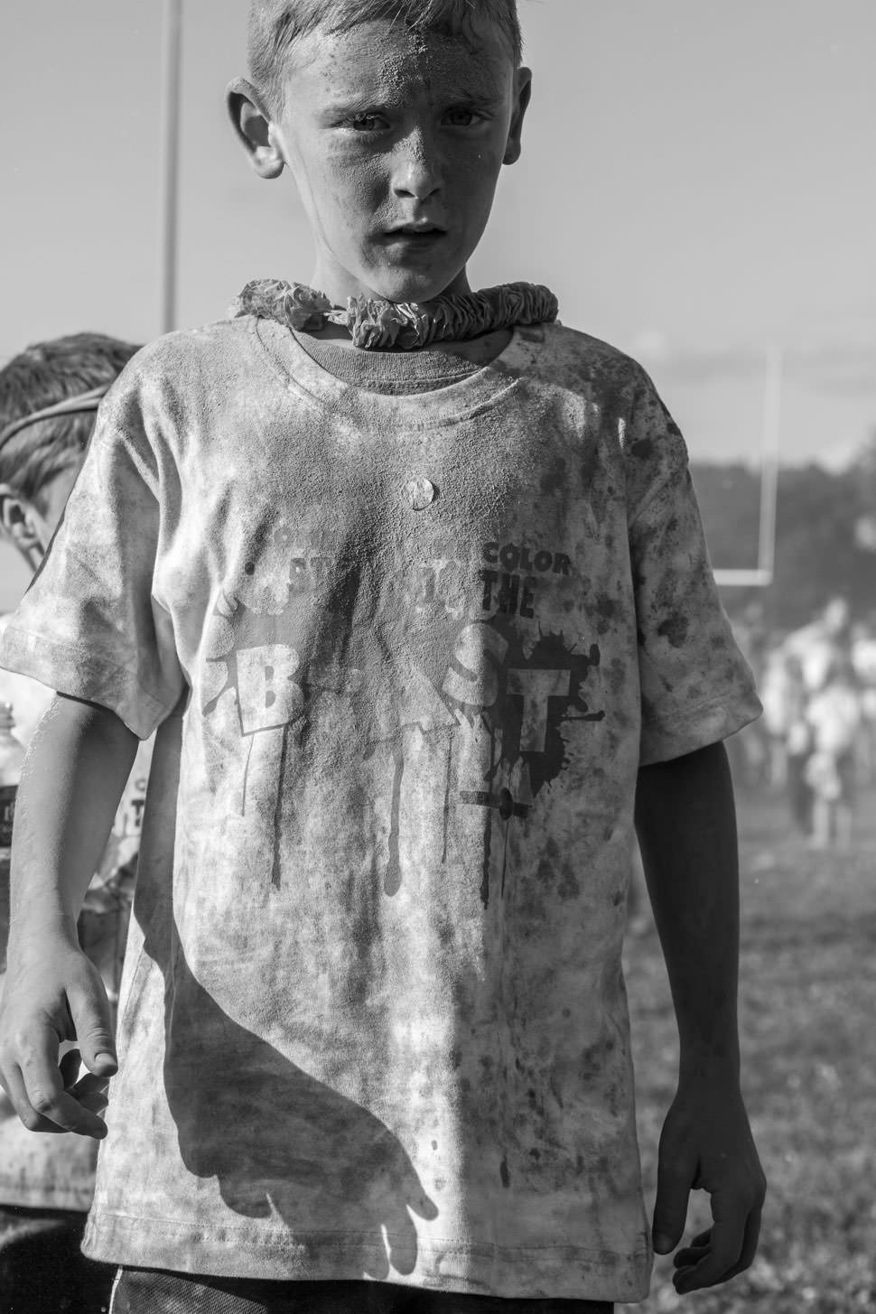 BW Color Run kid