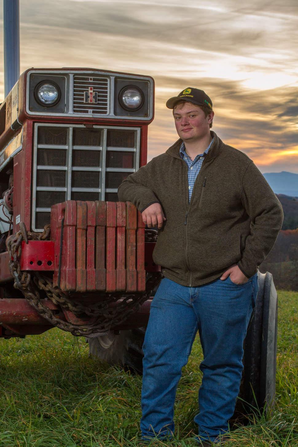 Senior Portrait with Tractor
