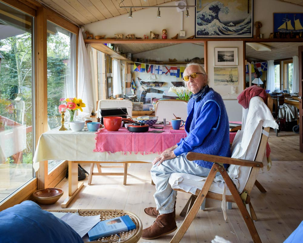 Jacob Jensen, designer for Bang & Olufsen from the 1960s until the 1990s, at home in Jutland, Denmark a week before his death in 2015