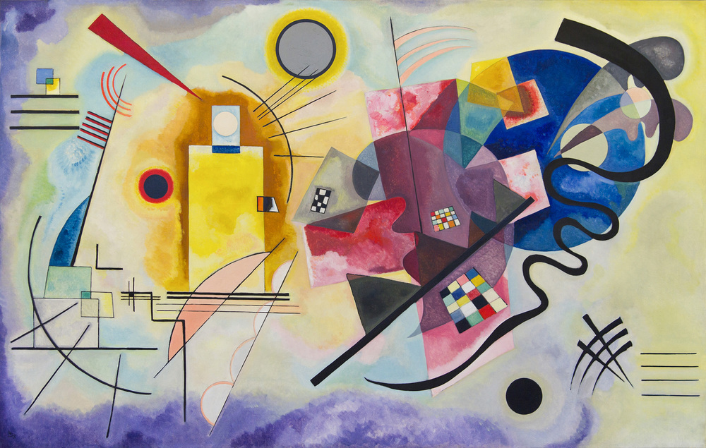 "Wassily Kandinsky ""Red Yellow Blue"", 1925, Musée National d'Art Moderne, Centre Georges Pompidou, Paris, France"