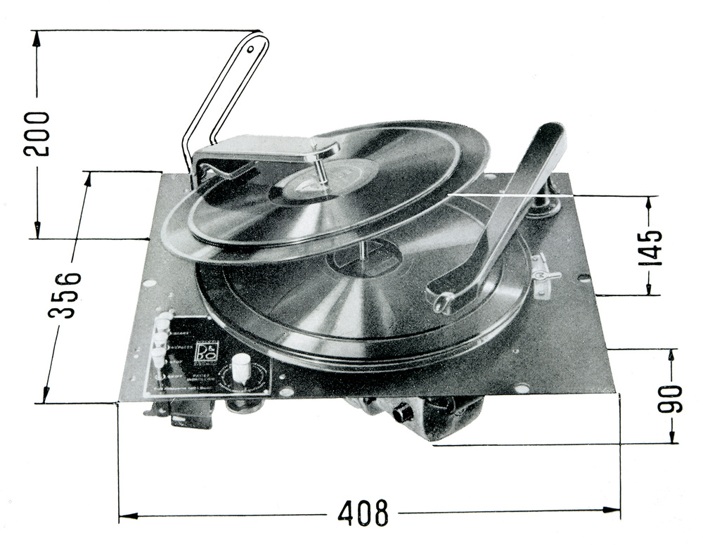 Schematic of a B&O automatic record changer from 1943.