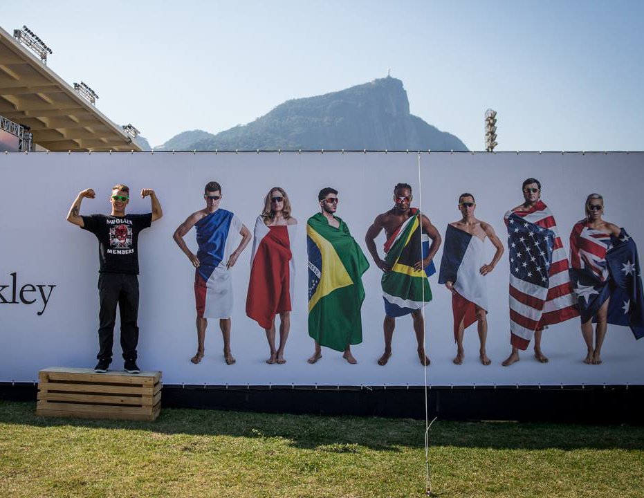 Hit the wall or off the wall? An athlete plays at Oakley Safehouse  2016  , B&O PLAY's partner's in Rio