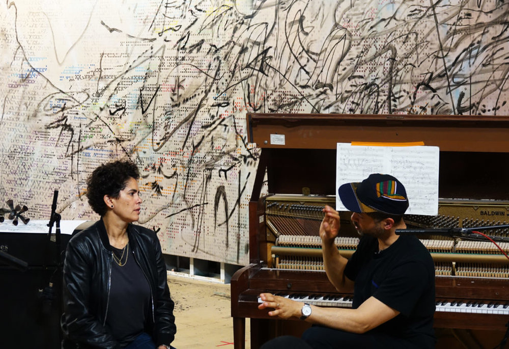 Julie Mehretu and Jason Moran, MASS (HOWL, eon), 2017, Performa 17 Commission