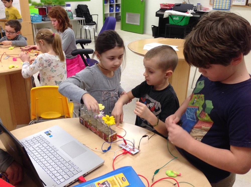 Students apply concepts of conductivity, electricity, circuitry and connectivity.