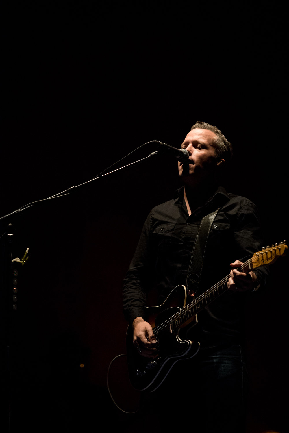 Jason Isbell performs at Roots N Blues N BBQ in Columbia, Mo., on Saturday, October 1, 2016. This was Isbell's second performance at the festival.