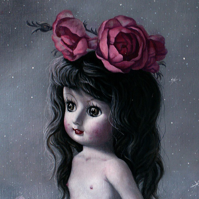 "I had an exhibition titled ""Winter of Love"" a few years ago with this little actual china doll named Salome as the main character. Maybe because everybody's as fragile as a china doll in love.. made to break by design."
