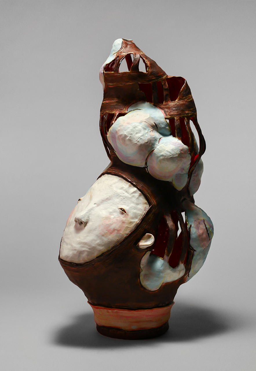 Outside World II, 2013 w26cm, h46cm, d20cm Glazed Stoneware