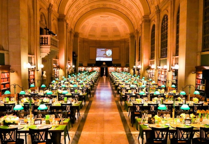 Boston Public Library - BostonOne of the city's most uniquely historic venues, the library features beautifully designed spaces that are ideal for intimate gatherings and large events. Treat your guests to a memorable occasion at this iconic landmark.