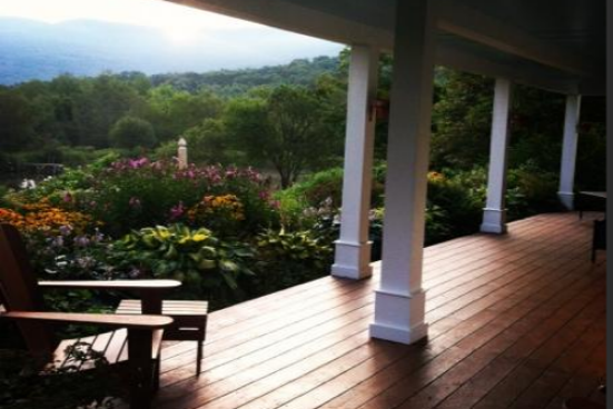 The B&B's front porch provides stunning views and a great place to reconnect.