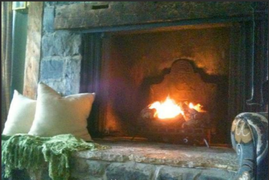 Enjoy sitting by the fire and enjoying a relaxing evening at our B&B.