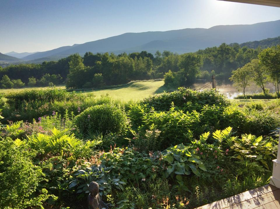The view from our front porch at Vermont Bed and Breakfast at Russell Young Farm