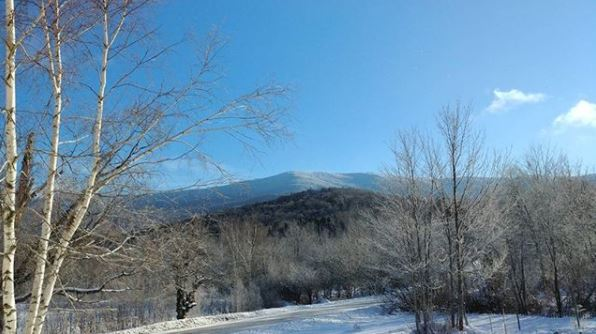 Our view of Mount Ellen, from Vermont Bed and Breakfast at Russell Young Farm.