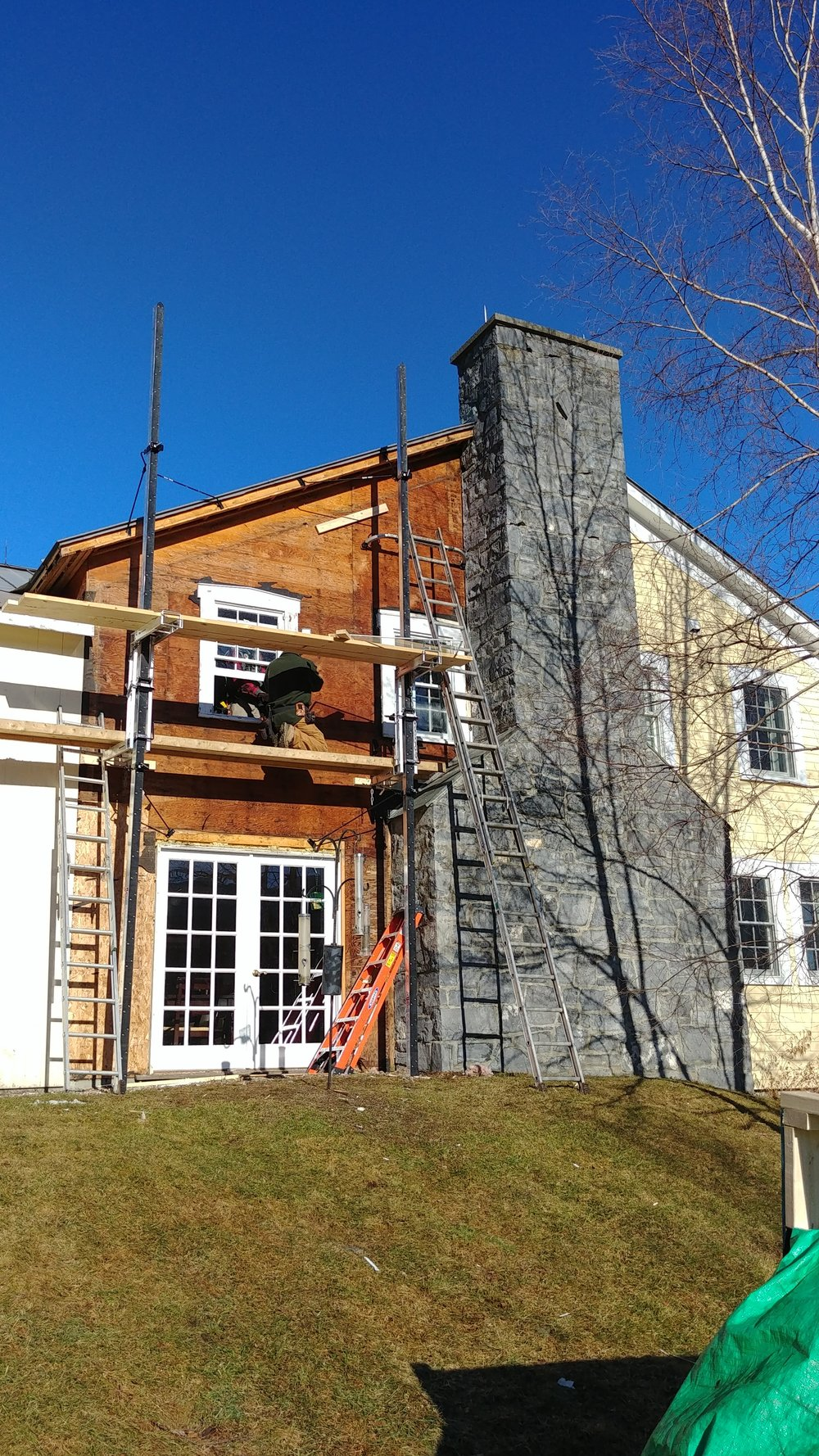 Energy efficiency renovation at Vermont Bed and Breakfast at Russell Young Farm.
