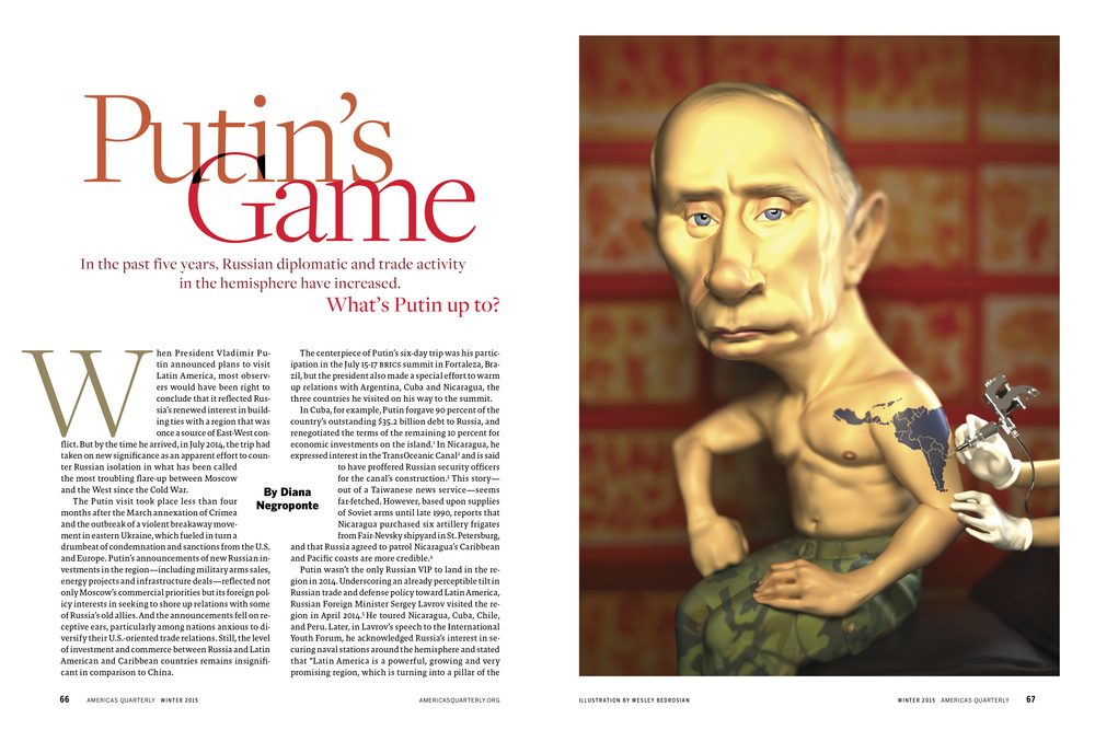 Putin Illustration, AQ Magazine