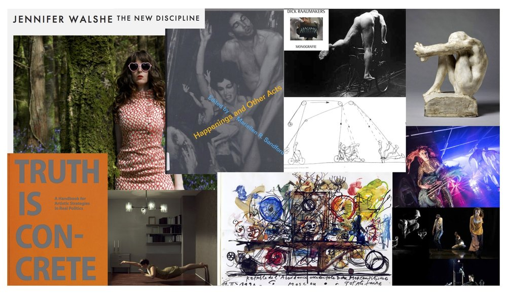 Collage of some of our 'sources of inspiration'