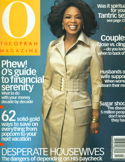 """Stealing Beauty"" O, The Oprah Magazine, March 2005"