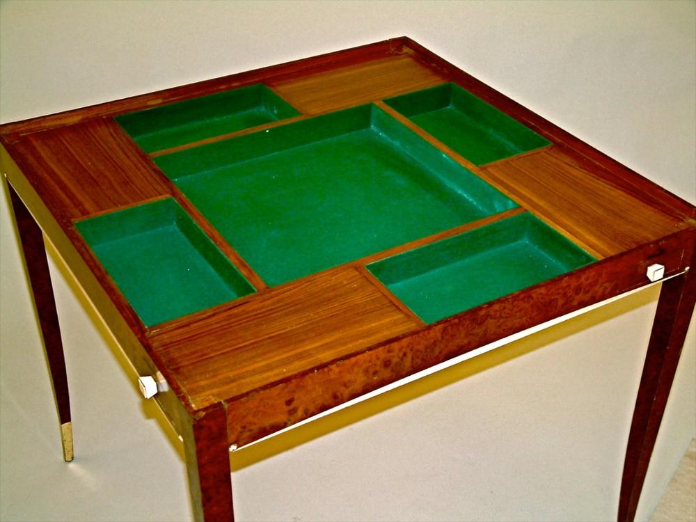 Superior DIM (Joubert Et Petit) Art Deco Game Table (#1053)