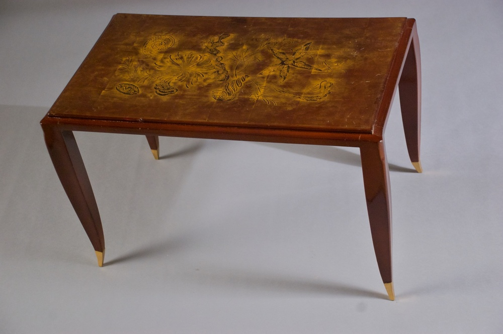 Jean Pascaud Small Lacquered Side/coffee Table (#1113)
