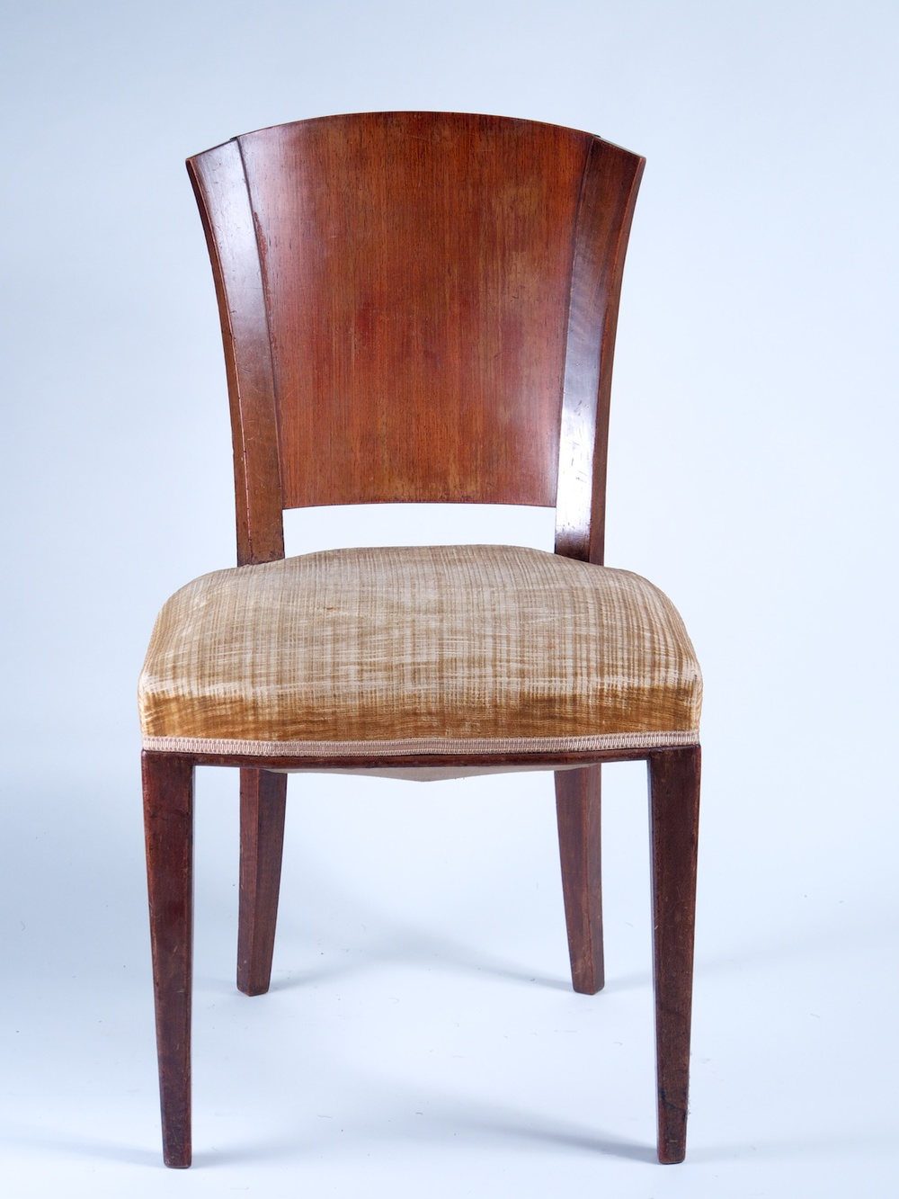 Etonnant Dominique Set Of 6 Rosewood And Walnut Dining Chairs (#1173)
