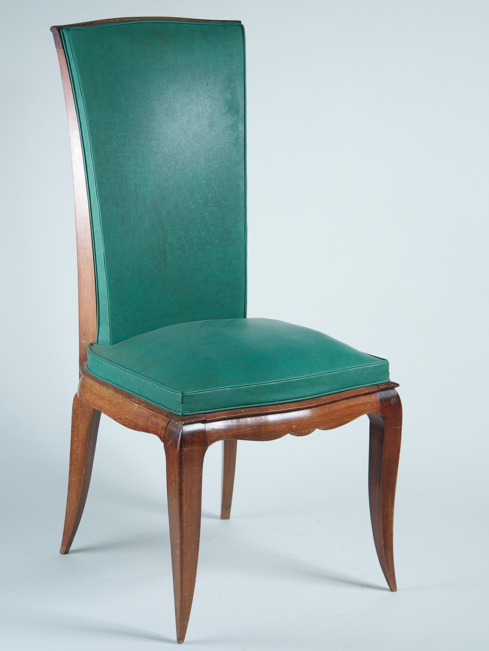 Rene Prou Set Of 6 Dining Chairs In Beech (#1174)