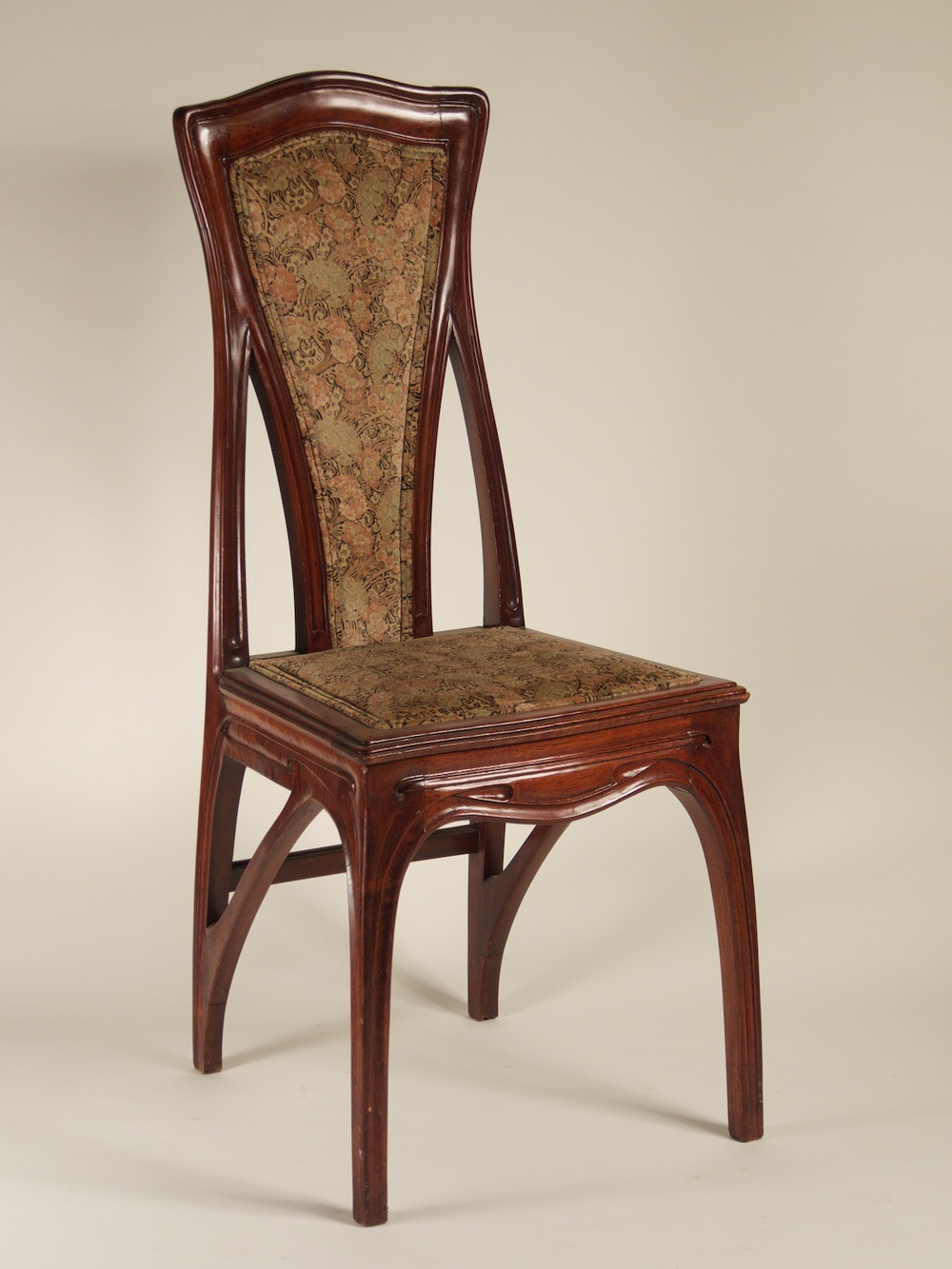 Genial Attributed To Eugene Gaillard Pair Of Art Nouveau Side Chairs (#1213)