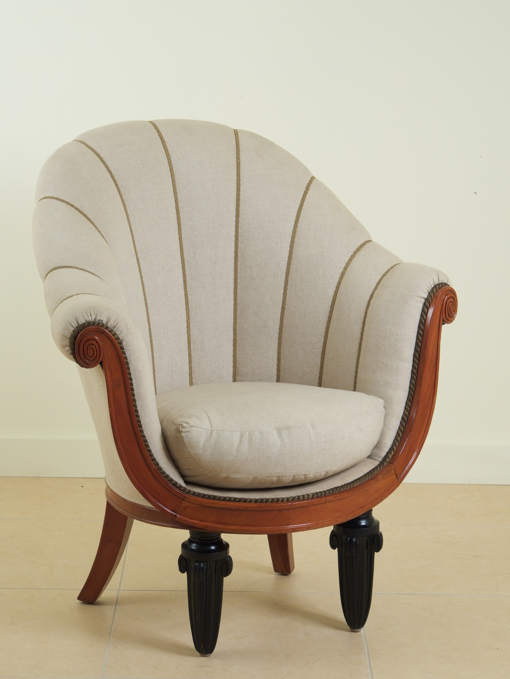 Maurice Dufrene Pair Of Early Art Deco Armchairs (#1029)
