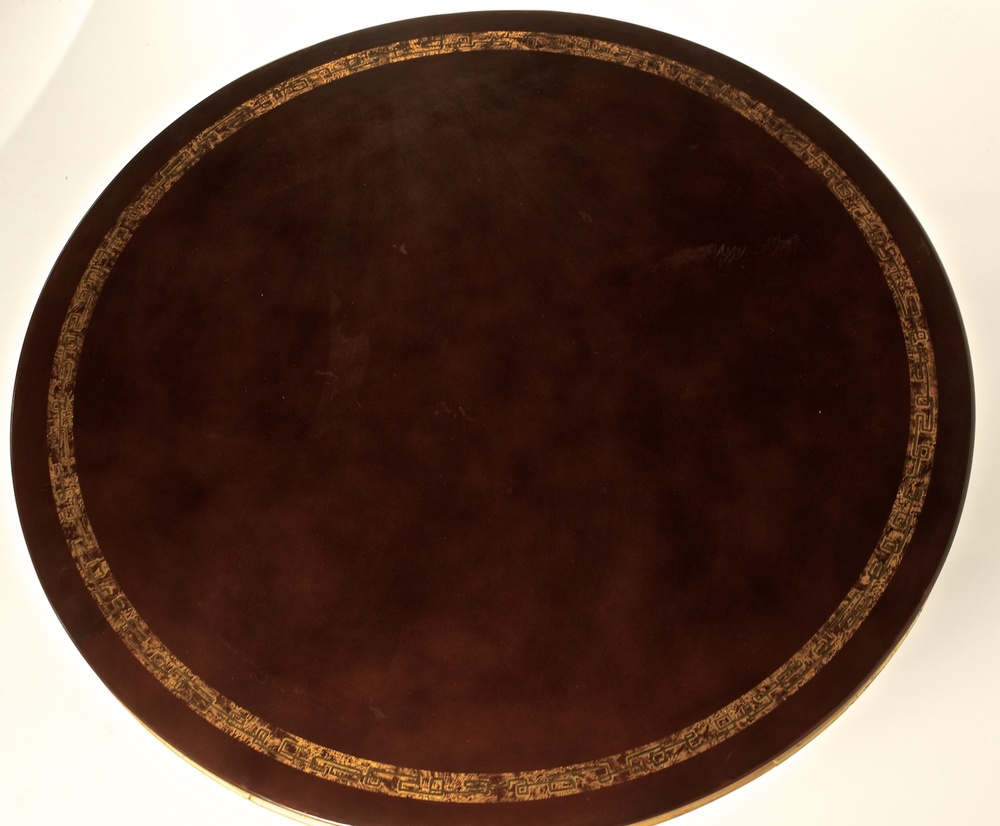 Batisten Spade Low Table In Lacquer And Gilt (#1343)