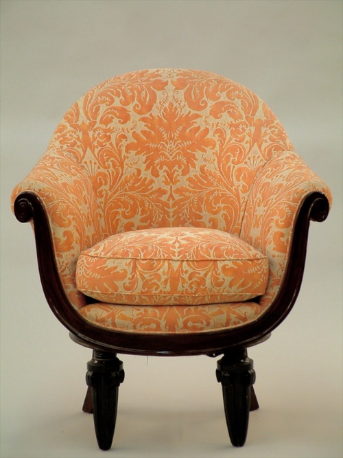 maurice dufrene single small scale arm club chair 1338