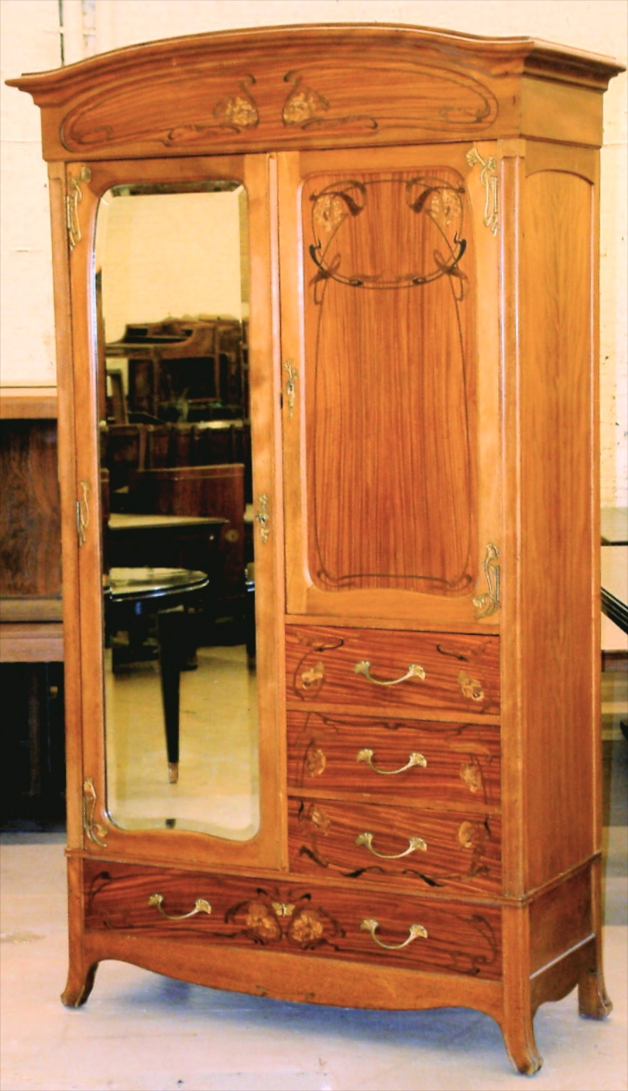 Abel Landry Art Nouveau Bedroom Set (#1372)